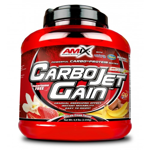 AMIX- CARBOJET GAIN 4 KG ( STRAWBERRY CREAM)