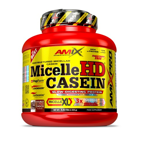 AMIX- MICELLE HD CASEIN 1600 GR ( DOBLE CHOCOLATE)