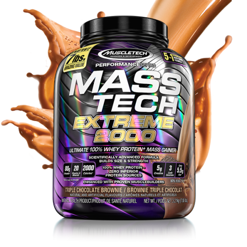 MUS- MASS TECH 7 LBS (TRIPLE CHOCOLATE BROWNI )