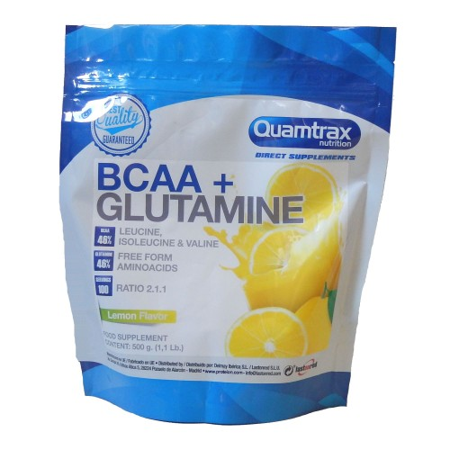 QTX DIRECT- BCAA + GLUTAMINE 500 GR ( LIMÓN)